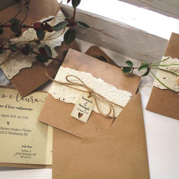 Partecipazioni Matrimonio Green.Ecofattoart