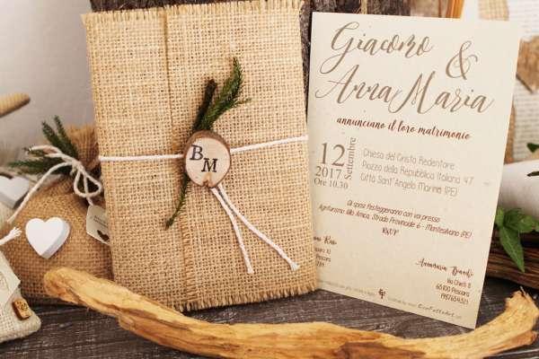 Partecipazioni Matrimonio Legno.Ecofattoart
