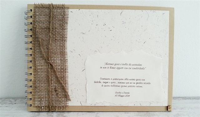 Guestbook Matrimonio Rustico : Ecofattoart shop on line